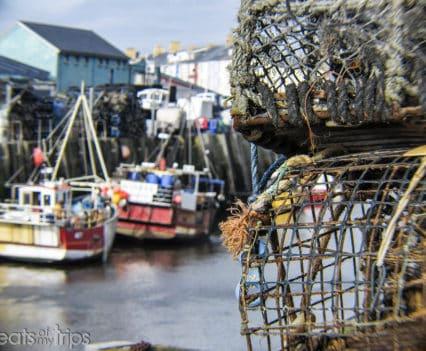 Puerto pesquero Aberystwyth playa viajar Gales Turismo Wales