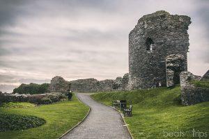 Castillo Aberystwyth Castle viajar Gales playa Turismo Wales