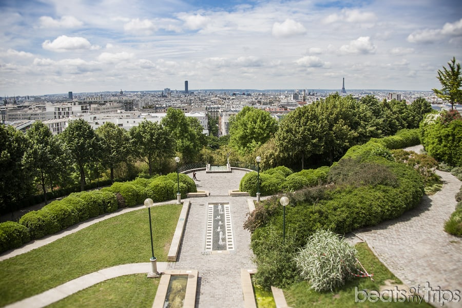 Parque Belleville picnic turismo vistas Paris dias