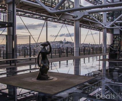 Terraza Museo Pompidou VIstas Montmartre Sacre Coeur Paris Viajar turismo