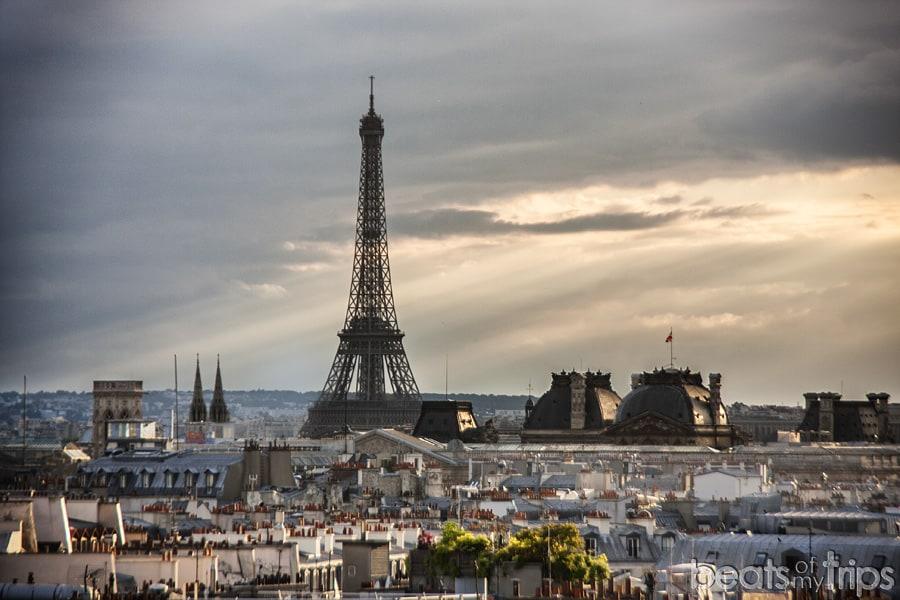Terraza Museo Pompidou Torre Eiffel Paris Vistas imperdibles viajar fin de semana