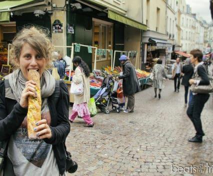Rue Mouffetard panadería gastronomía Calle Paris Mercado escapada Paris viaje