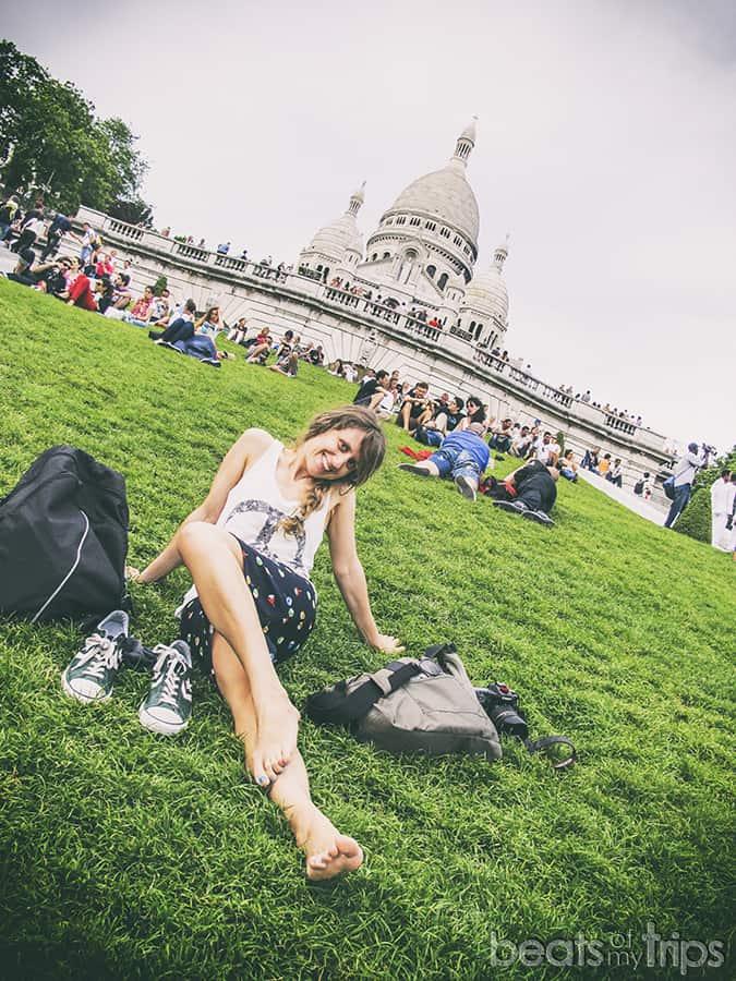 Basílica Sacre Coeur Plaza Louise Michel Montmartre Paris escapada turismo vistas