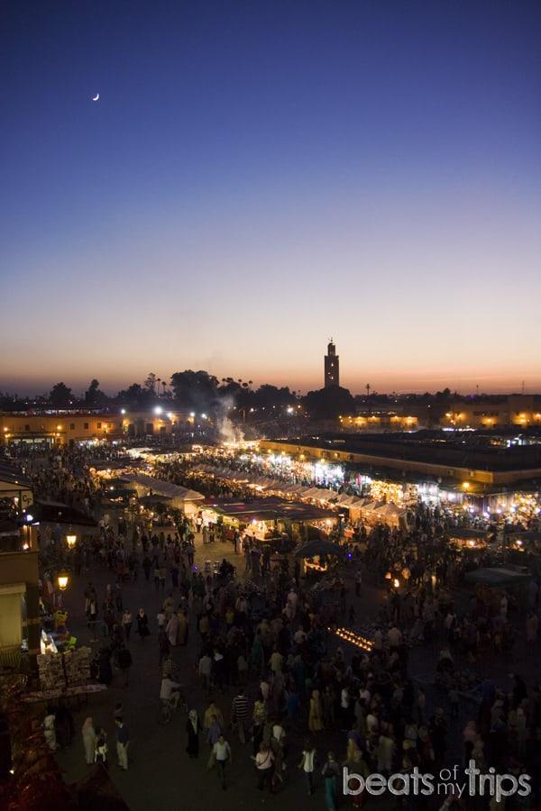 Marrakech Medina Jemaa el Fna Koutoubia Kutubia fin de semana Marrakech