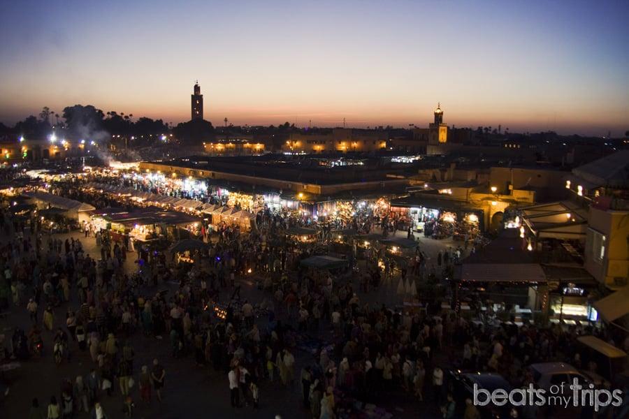 Marruecos Marrakech mejor terraza plaza Jemaa Fna