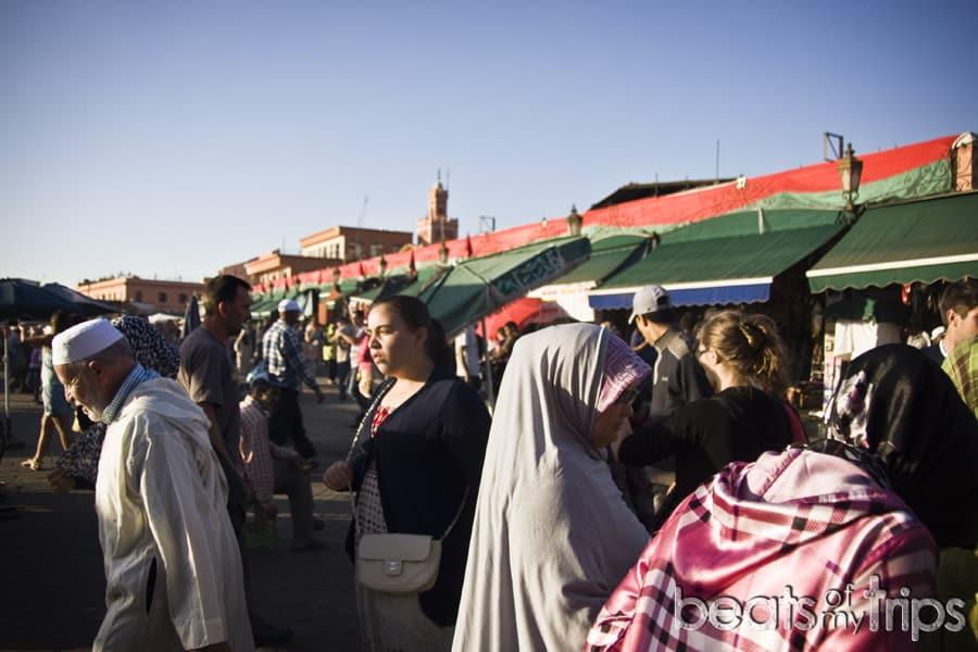 Jemaa el Fna Marrakech plaza Jemmaa el-Fna ambiente que ver marrakech