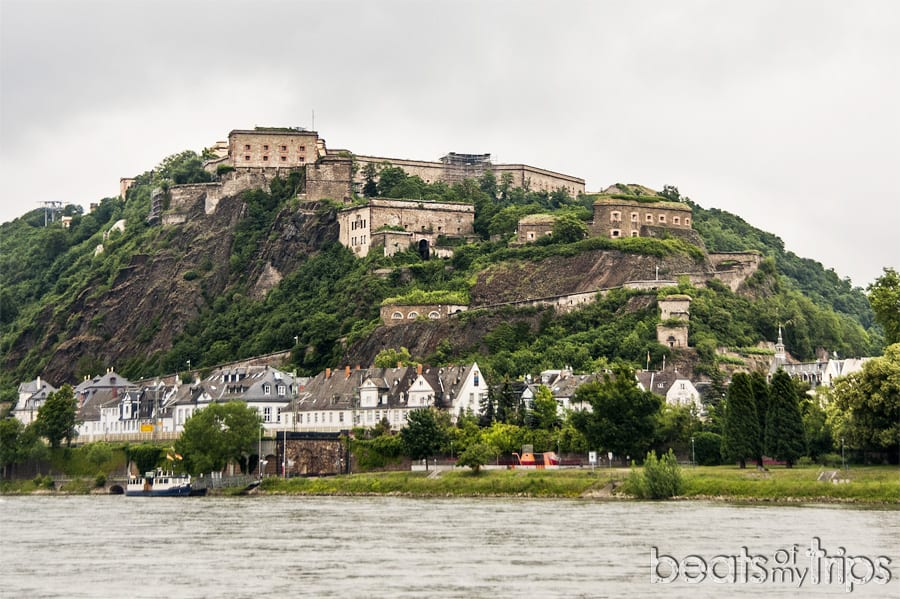 Que ver Coblenza Fortaleza Ehrenbreitstein turismo Alemania Koblenz barco río Rin desembocadura Mosela crucero