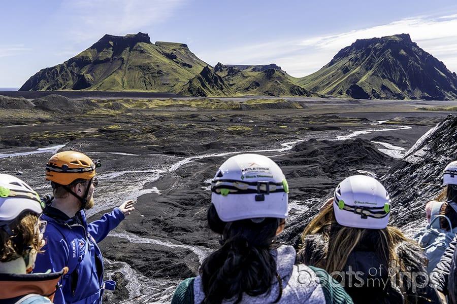 Katla cueva hielo Islandia verano excursión glaciar trekking