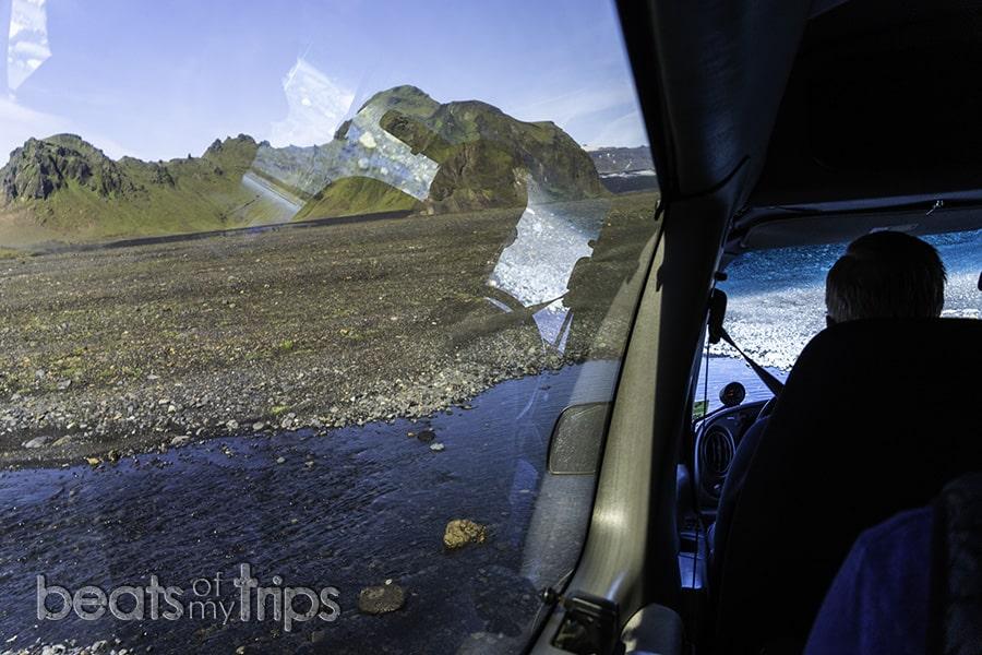 vadeo río Islandia mapa carreteras Islandia F roads conducir
