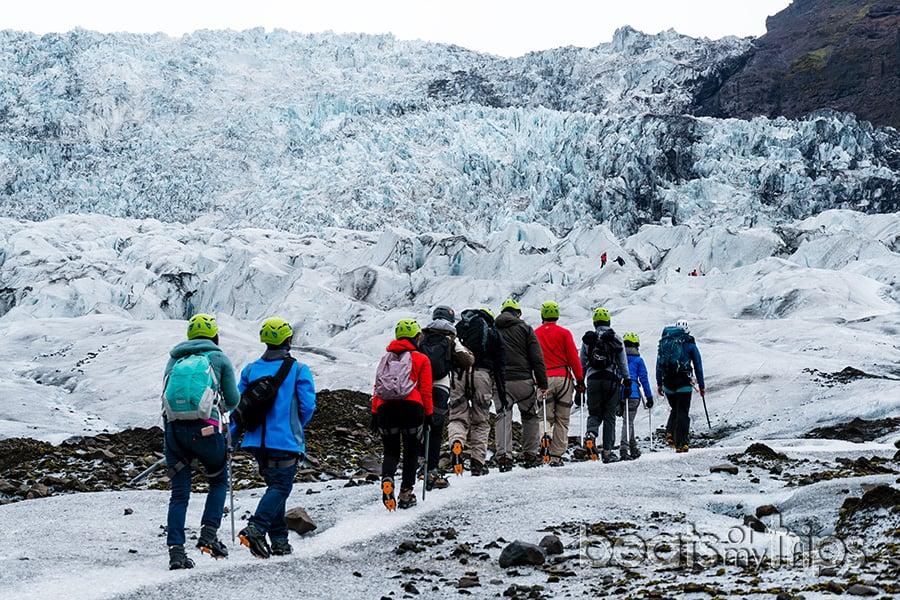 trekking crampones excursion glaciar vatnajokull Falljokull Skaftafell guia islandia que ver