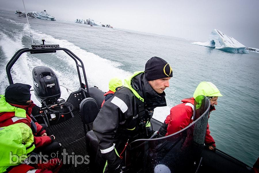 Excursion zodiac jokulsarlon información que llevar en la maleta Islandia
