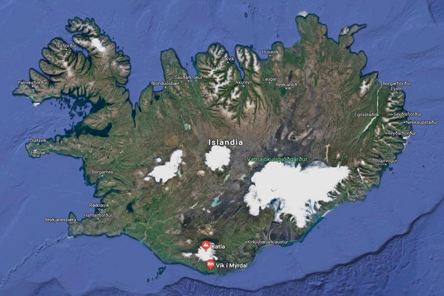 dónde está katla sur Islandia vik mapa cueva hielo ice cave abierta verano