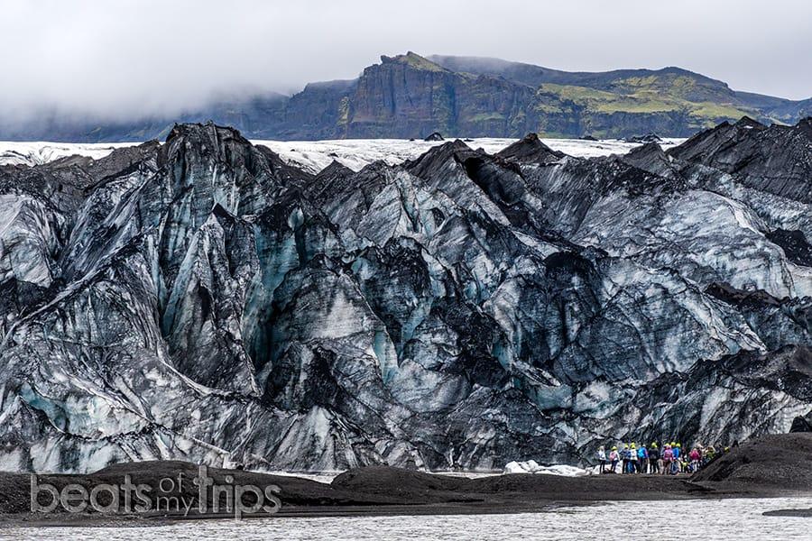 Solheimajokull Excursion trekking glaciar crampones Falljokull que ver Islandia imprescindibles guia Islandia Iceland
