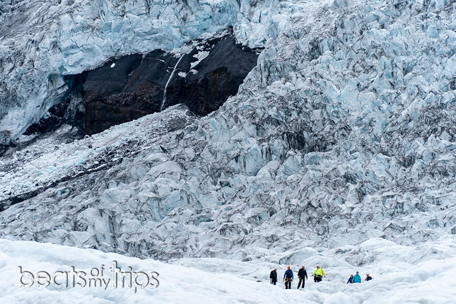 trekking crampones excursion glaciar Falljokull Skaftafell Islandia que llevar mochila