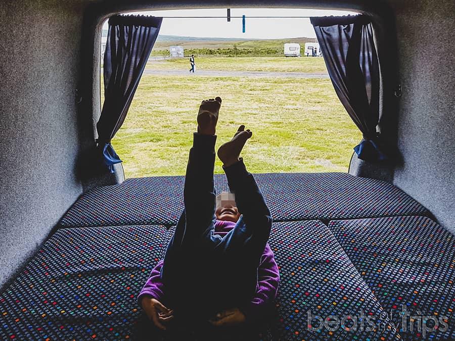 campings Islandia dormir cama camper viajar Islandia