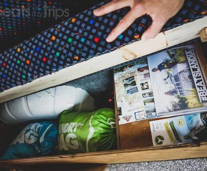 Islandia en campervan como es camper por dentro armarios espacio almacenaje