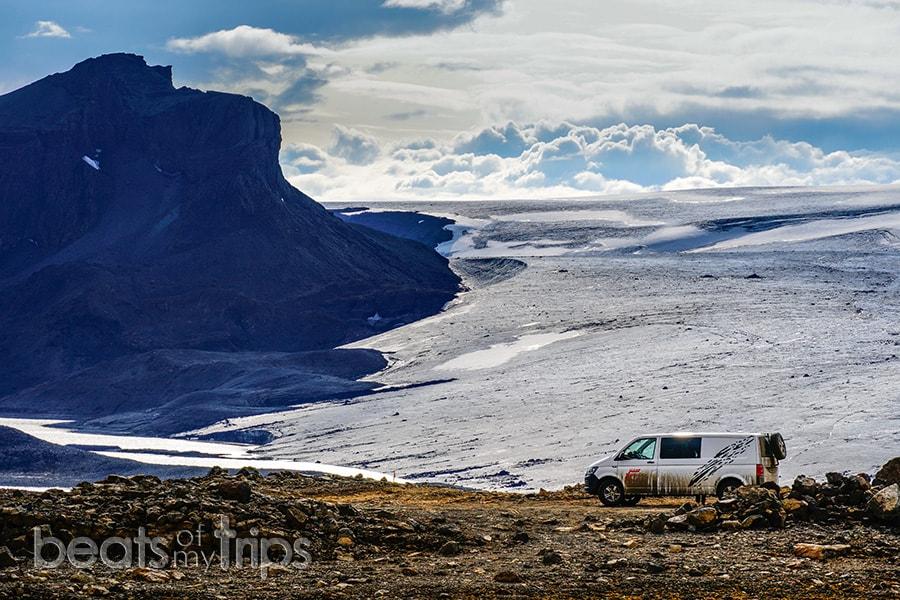 glaciar Langjokull carretera F35 donde aparcar Islandia blog viajes