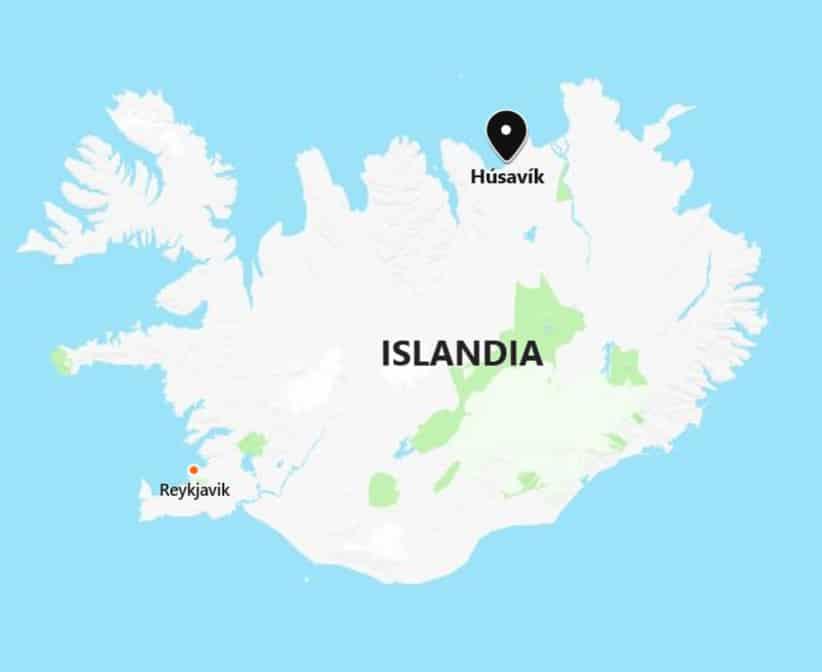 Islandia dónde Húsavík norte Reykjavik distancia dónde mejor whale watching