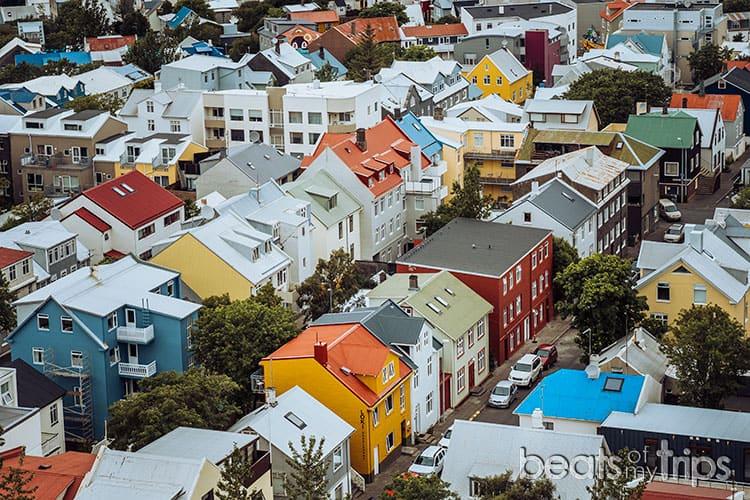 Casas colores Calles Reykjavik que ver un dia capital Islandia