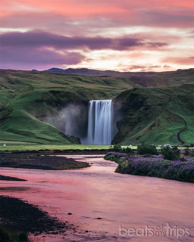 que ver islandia blog cascada skogafoss sol medianoche