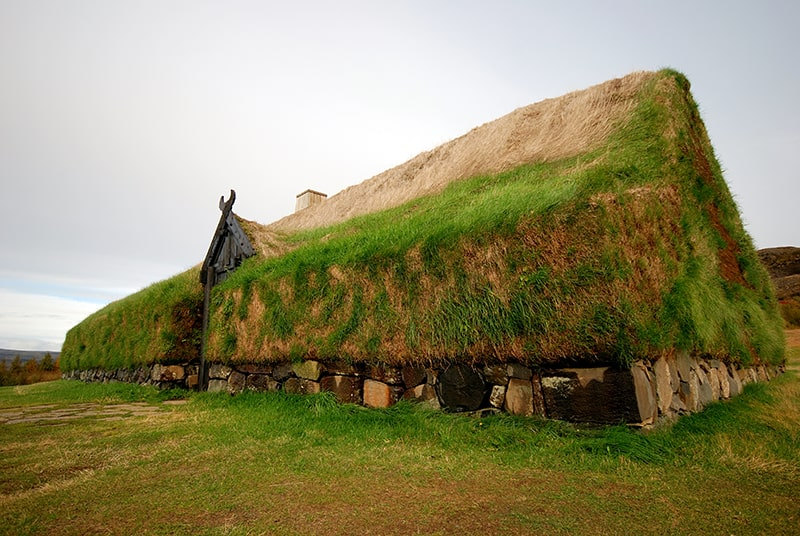 Þjóðveldisbærinn Stöng granja vikinga turba hierba tejado Islandia Juego de tronos Game of Thrones