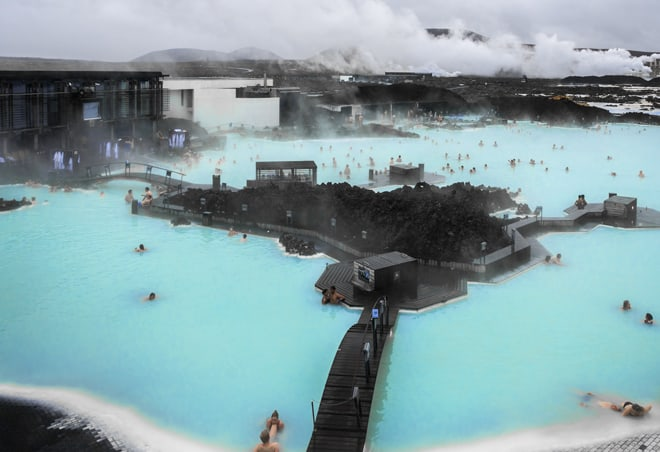 Blue Lagoon Laguna Azul Islandia baños termales