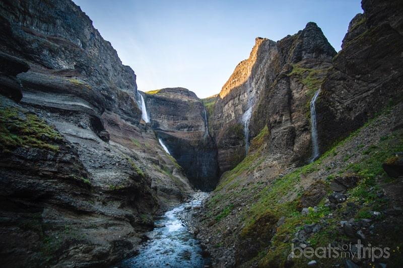 Cascada Granni rio fossa Haifoss Islandia Háifoss Waterfall