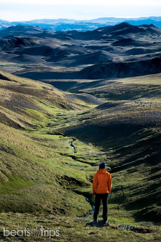 Trekking Islandia Fossárdalur Haifoss cascada