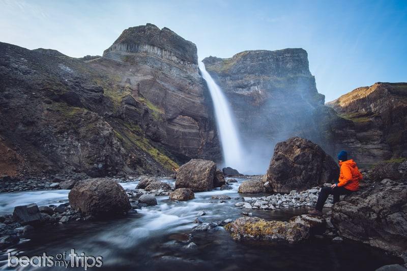 Rio Fossa Cascada Haifoss Waterfall Háifoss Iceland Islandia trekking
