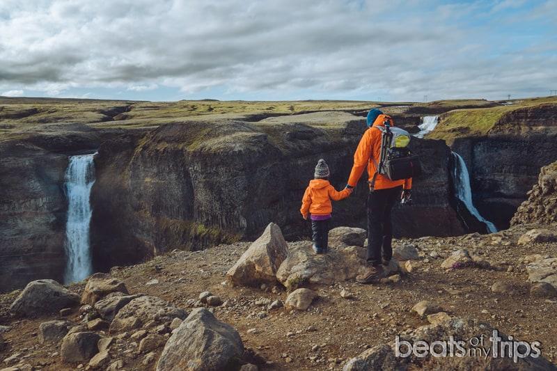 mirador cascada haifoss granni Islandia Háifoss waterfall