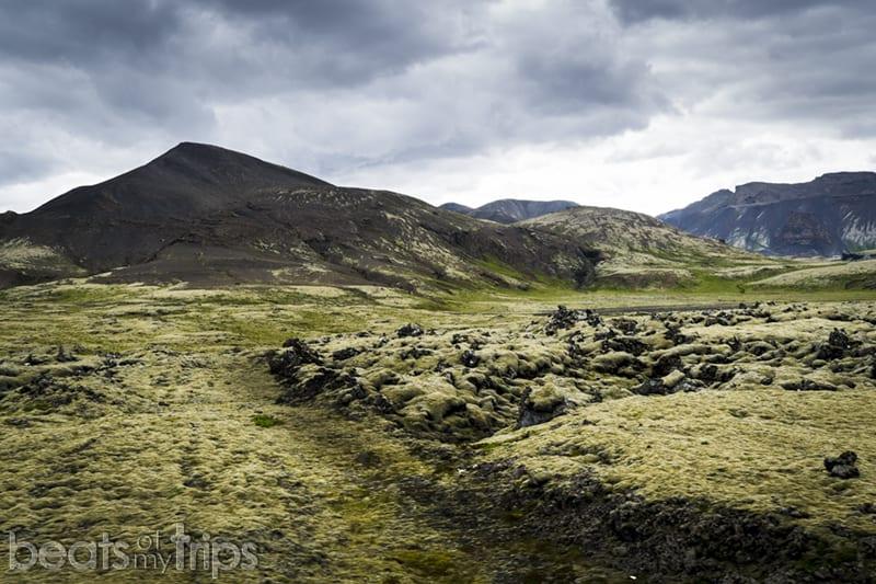Campo de lava Svinahraun ring road Sur Islandia