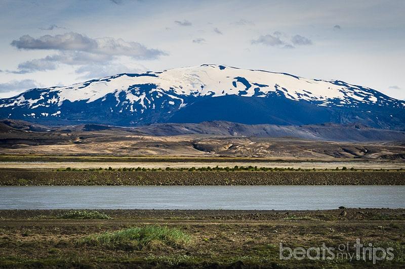 Volcan Hekla rio Þjórsá sur Islandia blog iceland