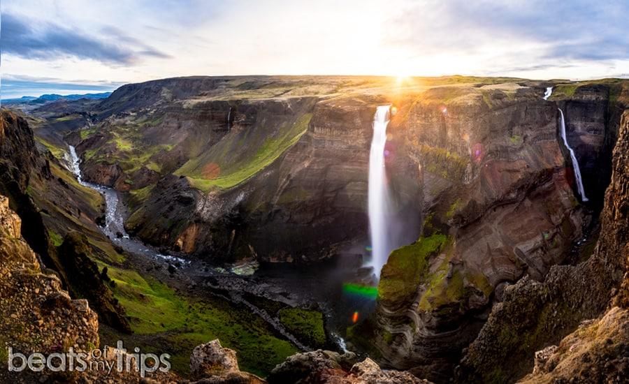Cascada Haifoss waterfall Háifoss Islandia Iceland Granni rio Fossa