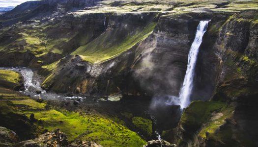 Háifoss, directa al top 5 de cascadas en Islandia. Salvaje!