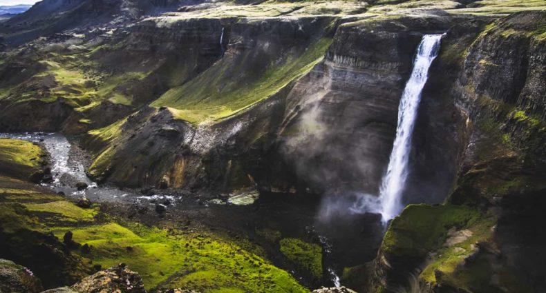 Cascada Haifoss Waterfall Iceland blog Islandia