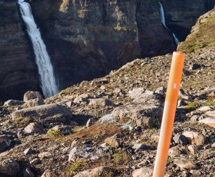 Señales trekking cascada Haifoss