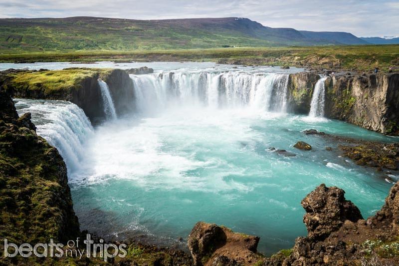 Mirador Cascada Goðafoss en Islandia