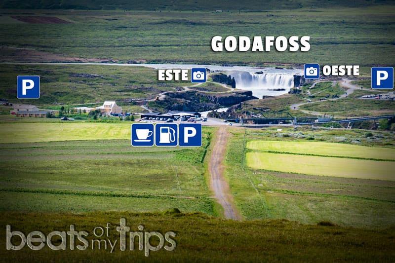 mapa godafoss Goðafoss islandia