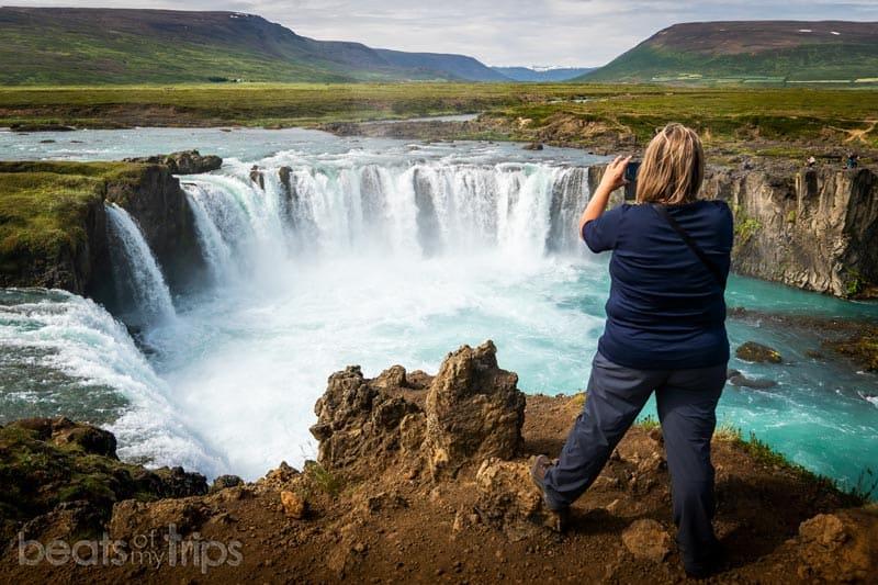 vistas mirador cascada godafoss Goðafoss Islandia